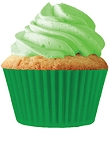 Green Standard Size Cupcake 30 Count Liners