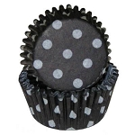 Black Polka Dot Standard Cupcake Liners 30 Count