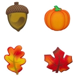 Fall Sugar Soft Cupcake Toppers 12pc