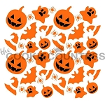 The Cookie Countess Cookie Stencil : Halloween 2pc Set