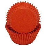 MINI Warm Red Cupcake Liners 100 Count