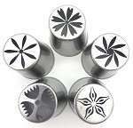 New Russian Flower Tip Set of 5
