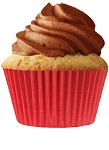 Red Standard Cupcake 30 Count Liners
