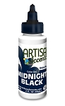 Midnight Black Artisan Accents Gel Color
