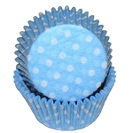 Light Blue Dot Standard Cupcake Liners 25 Count