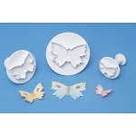 PME Veined Butterfly Plunger/ Cutter Set