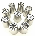 Russian Flower Tip Set of 9