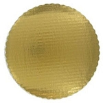 Round Gold Scalloped Plates 10