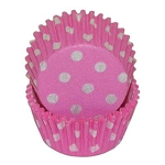 MINI Hot Pink Polka Dot Standard Cupcake Liners 100 Count