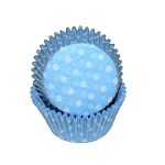 MINI Light  Blue Polka Dot Standard Cupcake Liners 100 Count