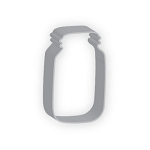 Mason Jar Cookie Cutter  4.375
