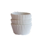 MINI White  Cupcake Liners 100 Count