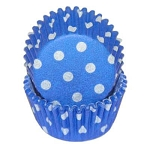 MINI Blue Polka Dot Standard Cupcake Liners 100 Count