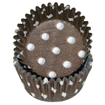 MINI Brown Polka Dot Standard Cupcake Liners 100 Count