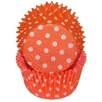 Orange Polka Dot Standard Cupcake Liners 25 Count