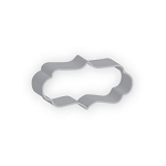 Plaque Long Fancy Cookie Cutter  4.25