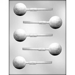 Golf Ball Sucker Chocolate Mold