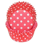 Red Polka Dot Standard Cupcake Liners 25 Count
