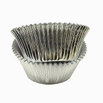 Silver Foil Standard Cupcake Liners (30 Pack)