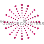 Star Burst Cookie Stencil