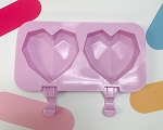3D Heart Popsicle Mold 2 Pieces