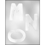 Large Letters Chocolate Mold: M N O