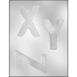 Large Letters Chocolate Mold: X Y Z