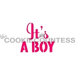 It's A Boy Cookie Stencil