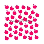 Apples Cookie Stencil