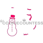 Build A Snowman Cookie Stencil