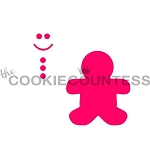Build A GingerBread Man Cookie Stencil