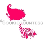 The Cookie Countess Cookie Stencil: Cornucopia Layers