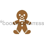 GingerBread Man Cookie Stencil 2pc