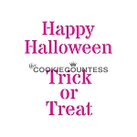 The Cookie Countess Cookie Stencil : Happy Halloween / Trick or Treat