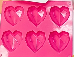 3D Small Heart Mold 6 Pieces