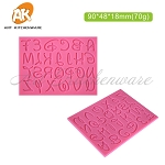 Disney Font Medium Alphabet Silicone Mold