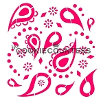 Paisley Print Cookie Stencil