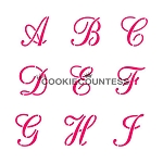 Script Alphabet Cookie Stencil Set 4pc
