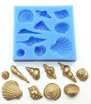 Sea Shell Assortment Silicone Mold