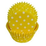 Yellow Polka Dot Standard Cupcake Liners 25 Count
