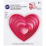 Heart Cookie Cutter Set 6pcs