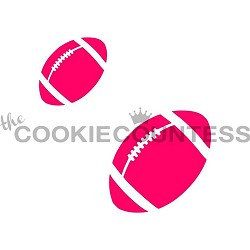 Football Cookie Stencil (2 sizes)