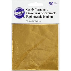 "4"" x 4"" Candy Wrappers-GOLD (50 Pack)"