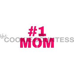 #1 Mom Cookie Stencil