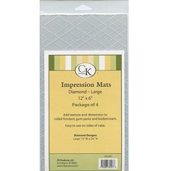 Diamond Large Impression Mat Pack of 4
