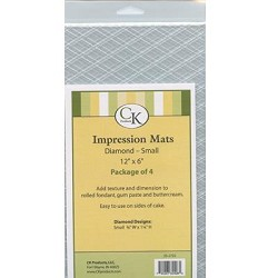 Diamond Small Impression Mat Set of 4