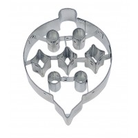 Embossed Ornament Cookie Cutter 3 1/2""