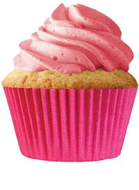 Hot Pink Standard Cupcake Liners 30 Count
