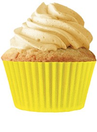 Yellow Standard Cupcake 30 Count Liners