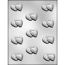 Double Heart Bite Size Chocolate Mold